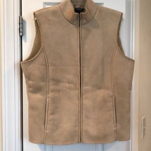 Lands End faux suede vest. Size 14/16